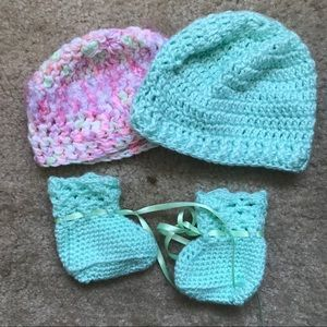 Other - Baby Crochet Hat and Booty Set
